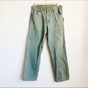 dickies cotton canvas cargo carpenter pants (mens)